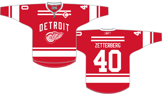 Red Wings Winter Classic Jersey Concept How It Should Have Been