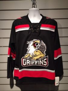 The Griffins' updated road black jersey (Credit: Griffins-Zone.com)